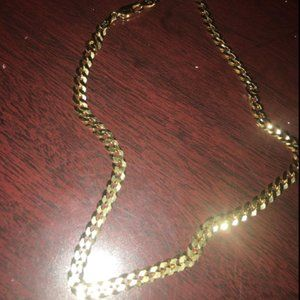 Other - 18k Diamond Cut 5mm Gold Necklace